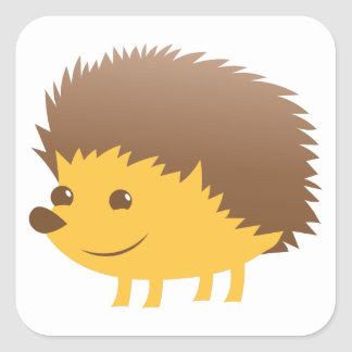 cute little hedgehog square sticker