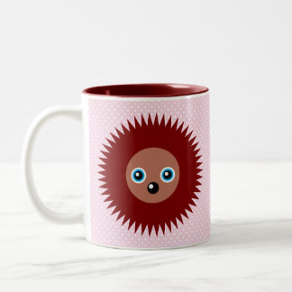 Cute little hedgehog Two-Tone coffee mug