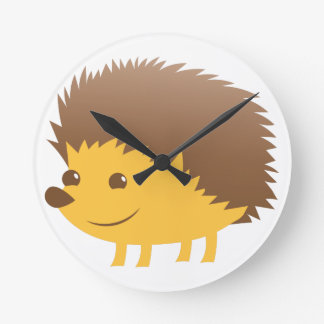 cute little hedgehog wall clock