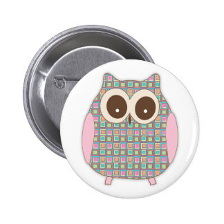 Cute Little Hoot Owl 6 Cm Round Badge