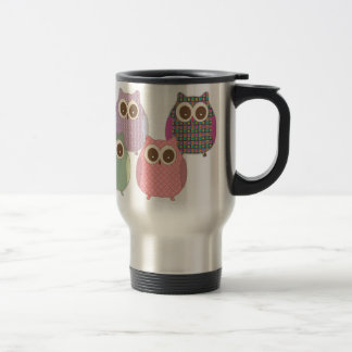 Cute Little Hoot Owls Assorted Colors Travel Mug