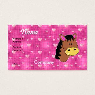 Cute Little Horse Face Business Card