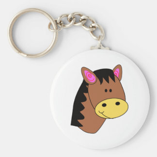Cute Little Horse Face Key Ring