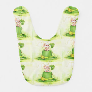 cute little Irish mouse Bib