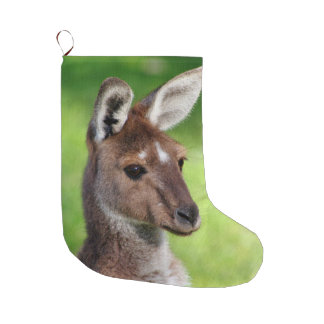 Cute Little Kangaroo Large Christmas Stocking