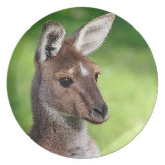 Cute Little Kangaroo Party Plate