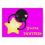 cute little kawaii Mite Greeting Card