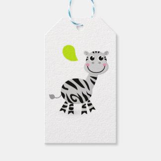 Cute little kids zebra gift tags