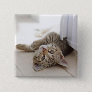Cute Little Kitten 15 Cm Square Badge