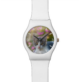 Cute Little Kitten Photo Cat Lovers - dial-plate Watch