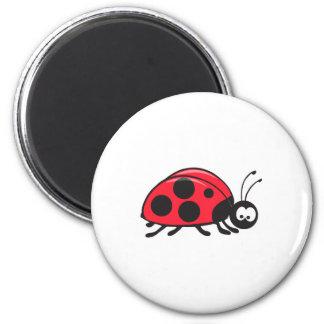 cute little ladybug 6 cm round magnet