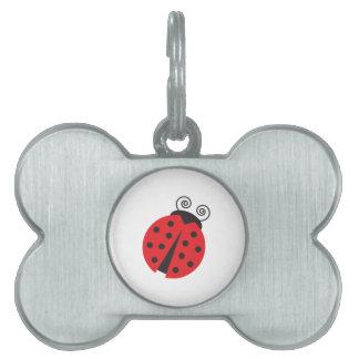 Cute Little Ladybug Pet Name Tag