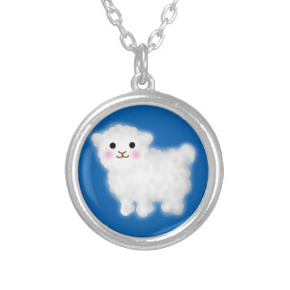 Cute Little Lamb Silver Plated Necklace