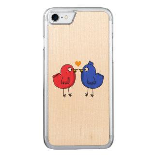 cute little love birds carved iPhone 8/7 case
