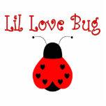 Cute Little Love Bug Heart Ladybug Ornament Acrylic Cut Outs