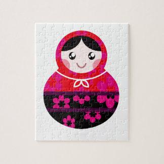 Cute little Matroshkas on white Jigsaw Puzzle