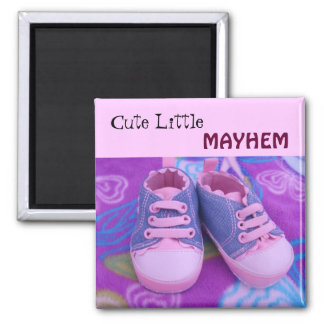 Cute Little MAYHEM baby toddler Magnets Shoes