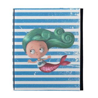 Cute Little Mermaid iPad Folio Covers