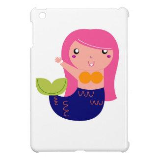 Cute little Mermaid on white iPad Mini Cases