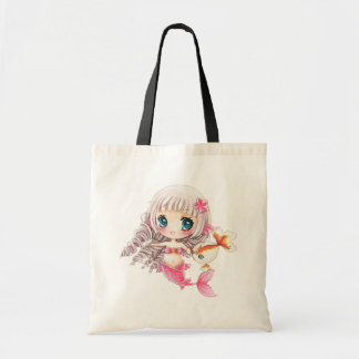 Cute little mermaid tote bag