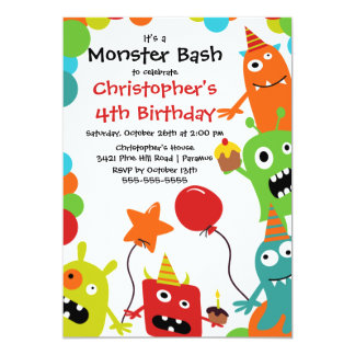 Shop Zazzle's selection of monster birthday invitations for your party!