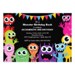CUTE Little Monster Bash Birthday Party Personalised Invites