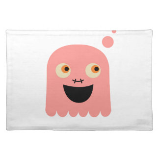 Cute little Monster on white Placemat