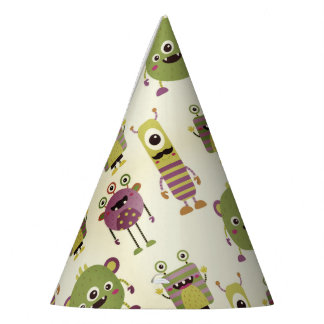 Cute little monsters design for kids party or baby party hat