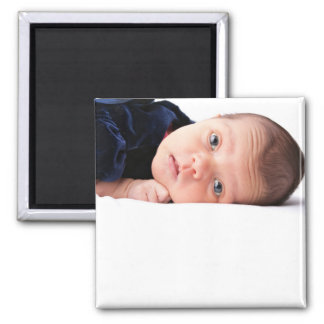Cute Little Newborn Infant Square Magnet