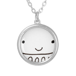 Cute Little Octopus Squid Thing Silver Plated Necklace