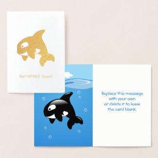 Cute Little Orca - Get Whale (Well) Soon Foil Card