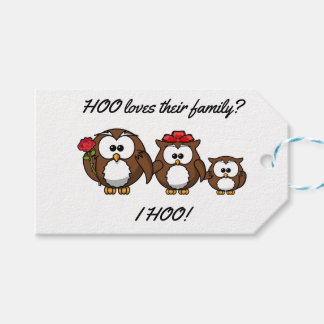 Cute Little Owl Family Gift Tags