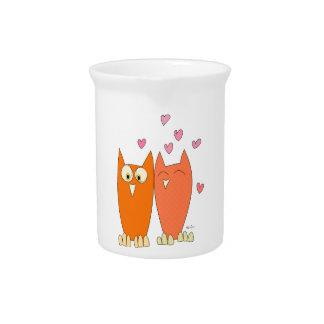 Cute little owls pitcher