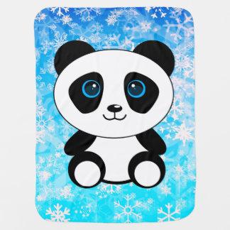 Cute Little Panda Bear Baby Blanket
