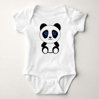 Cute Little Panda Bear Baby Bodysuit