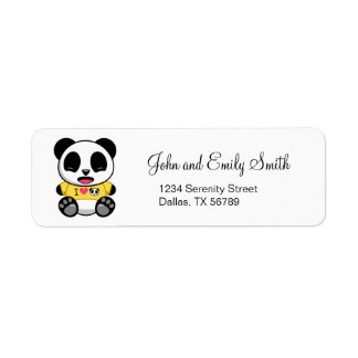 Cute Little Panda Return Address Label