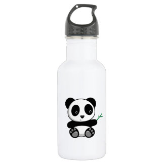 Cute Little Panda with a Bamboo Stick 532 Ml Water Bottle