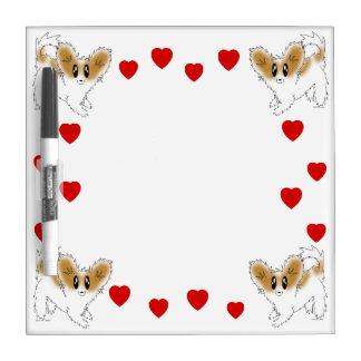 Cute Little Papillon Puppy Dog Dry Erase Board