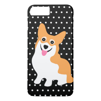 Cute Little Pembroke Welsh Corgi with Polka Dots iPhone 8 Plus/7 Plus Case