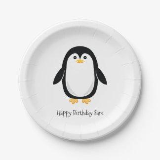 Cute Little Penguin Paper Plate