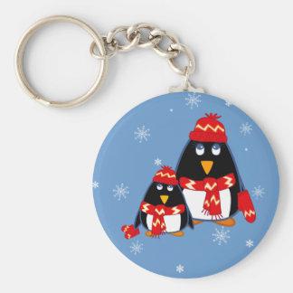 Cute Little Penguins. Christmas Gift  Keychain Keychain