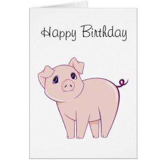 Cute Little Piggy Art Card