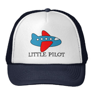 Cute little pilot airplane trucker hat for kids