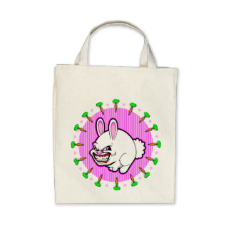 Cute little pink apple bunny bag