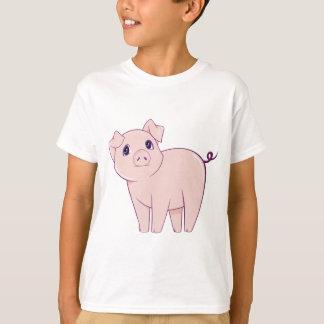 Cute Little Pink Pig Art T-Shirt