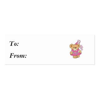 Cute Little Pink Princess Bear Business Card Templates