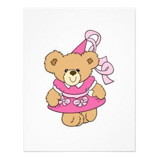 Cute Little Pink Princess Bear Invitations
