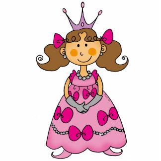 Cute little princess (brown hair) standing photo sculpture