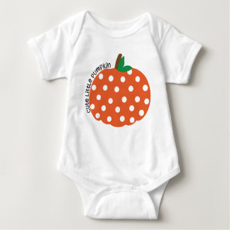 Cute Little Pumpkin Stinky Little Pumpkin Baby Bodysuit