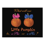 Cute Little Pumpkins Baby Gender Reveal Personalised Announcements